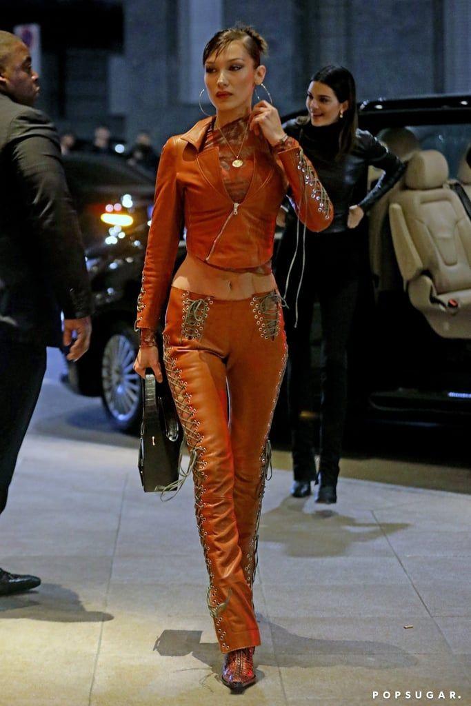 Photo of Bella Hadid's Street Style at Milan Fashion Week