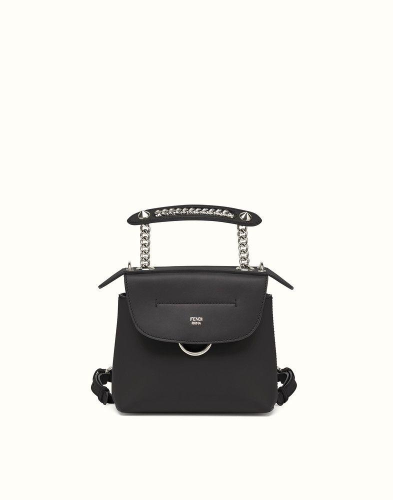 2559aa8025 FENDI MINI BACK TO SCHOOL BACKPACK - Mini backpack in black leather - view  1 detail