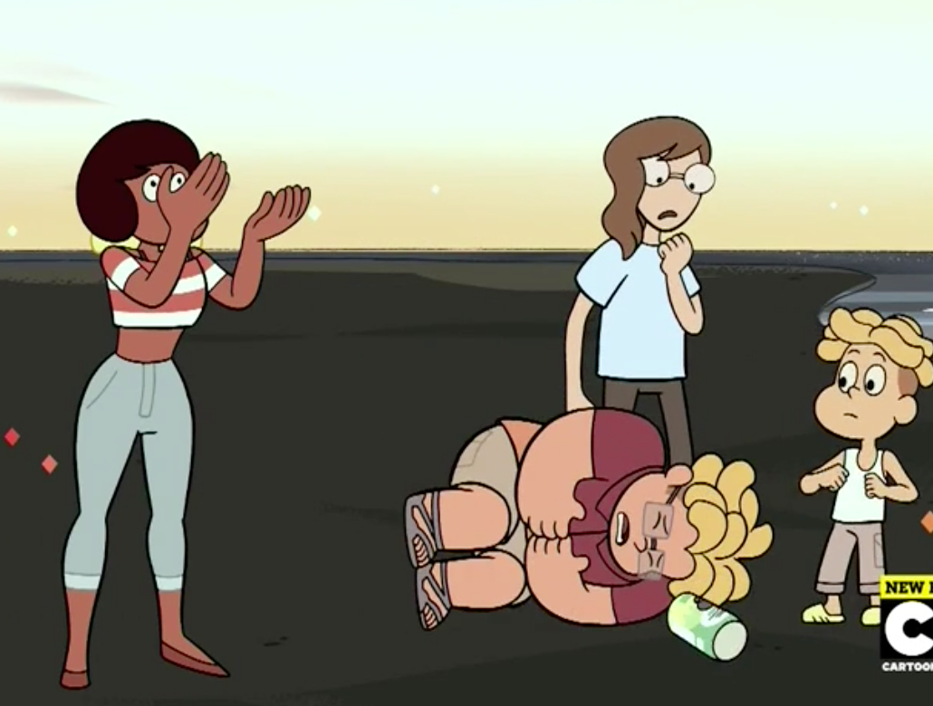 draw the squad like this (source: Steven Universe- Drop Beat Dad)