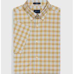 Photo of Gant Short Sleeve Tech Prep ™ Plaid Shirt (Yellow) GantGant