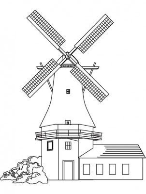 House and Building Coloring Pages | Kids coloring pages