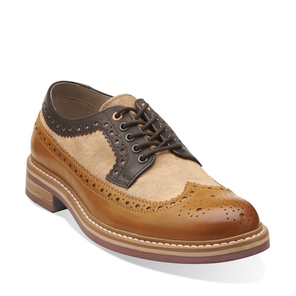 Darby Limit Tan Combi - Men's Oxfords and Lace Up Shoes - Clarks
