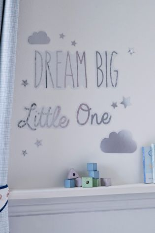 Buy dream big little one metallic wall stickers online today at next israel