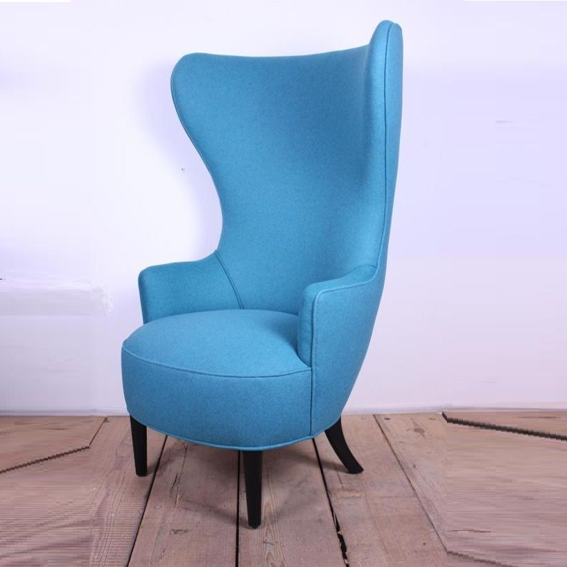 Modern An Elegant And Comfortable High Back Wing Armchair Standing On  Ebonized Legs, This One Is Upholstered In A Swedish Felt.