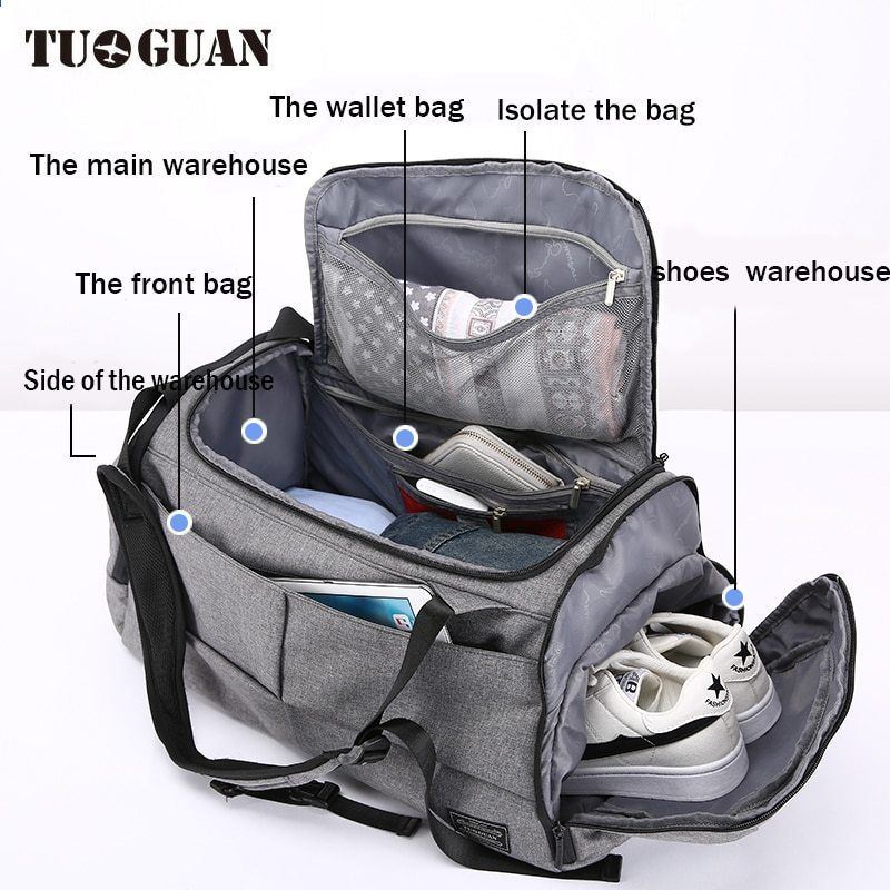 TUGUAN New Travel Bag Large Capacity Men Hand Luggage Travel Duffle Bags  oxford fabric Weekend Bags ed36620e14280