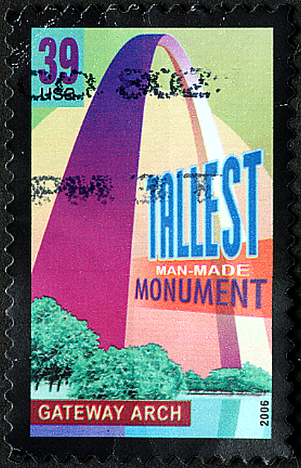 39 Cent Postage Stamp Celebrating The St Louis Gateway Arch STL