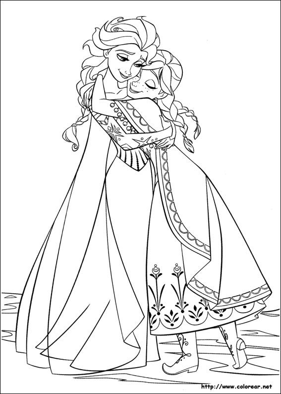 how do you color anna and else | Dibujos de Frozen - el reino del ...