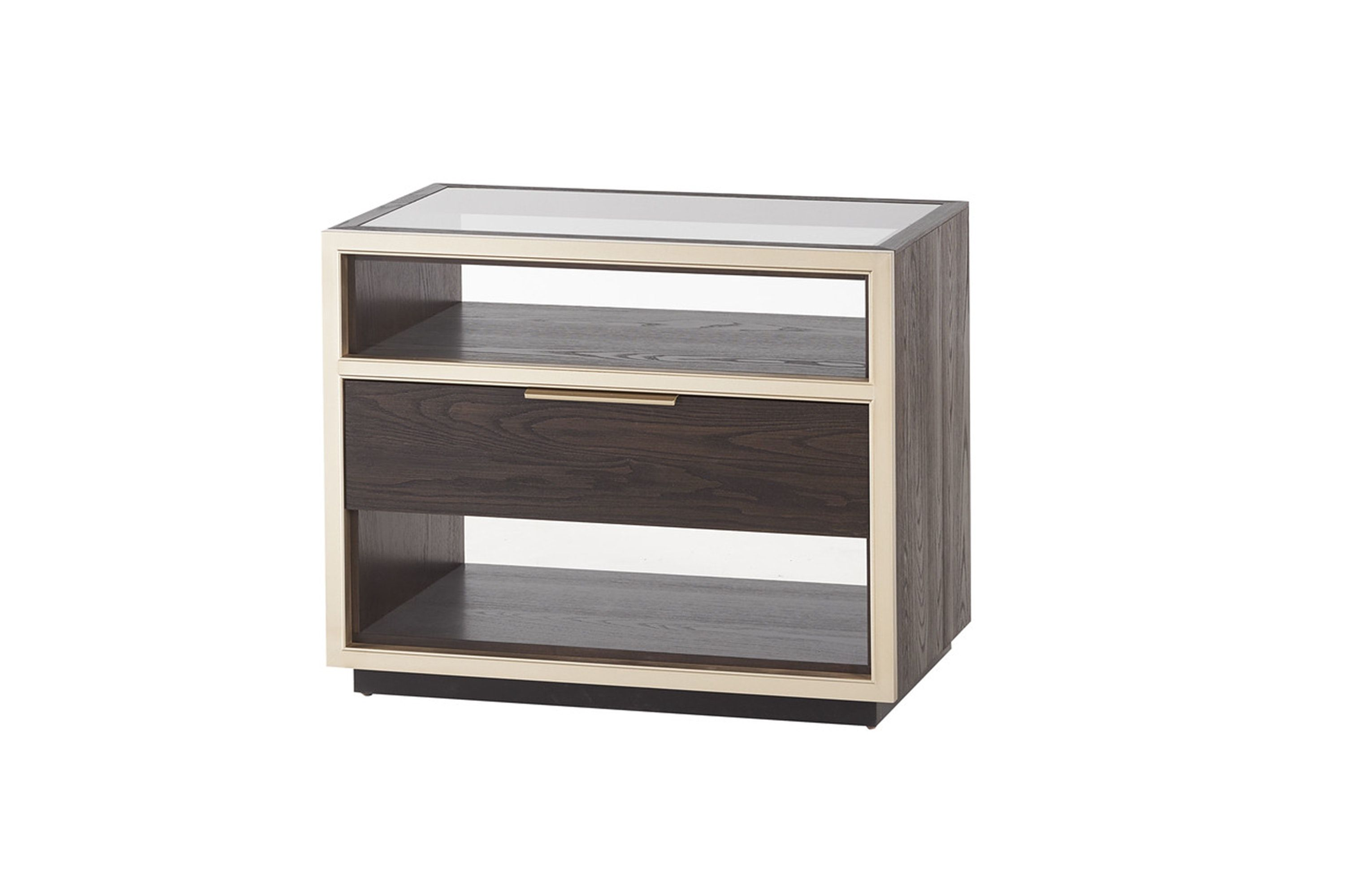 Best Evoke Bedside Table With Glass Top By T H Solid Wood 400 x 300