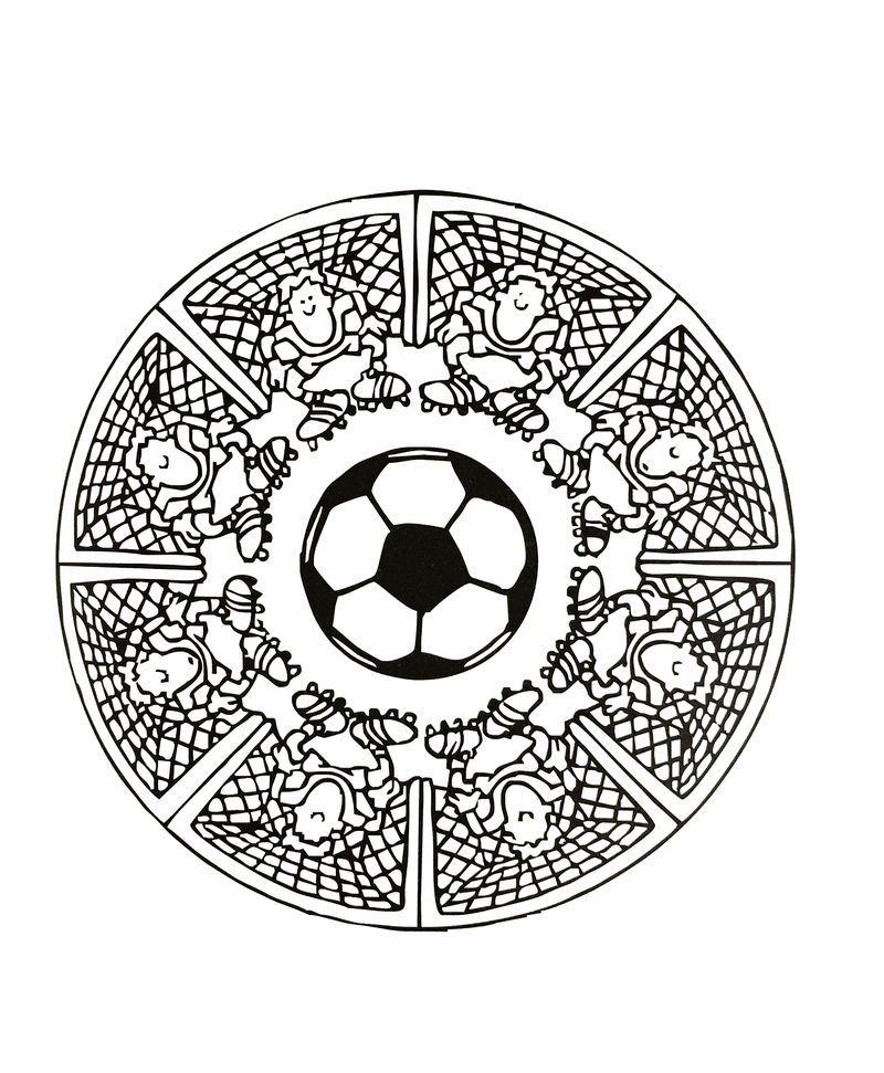 Soccer Mandala For Kids