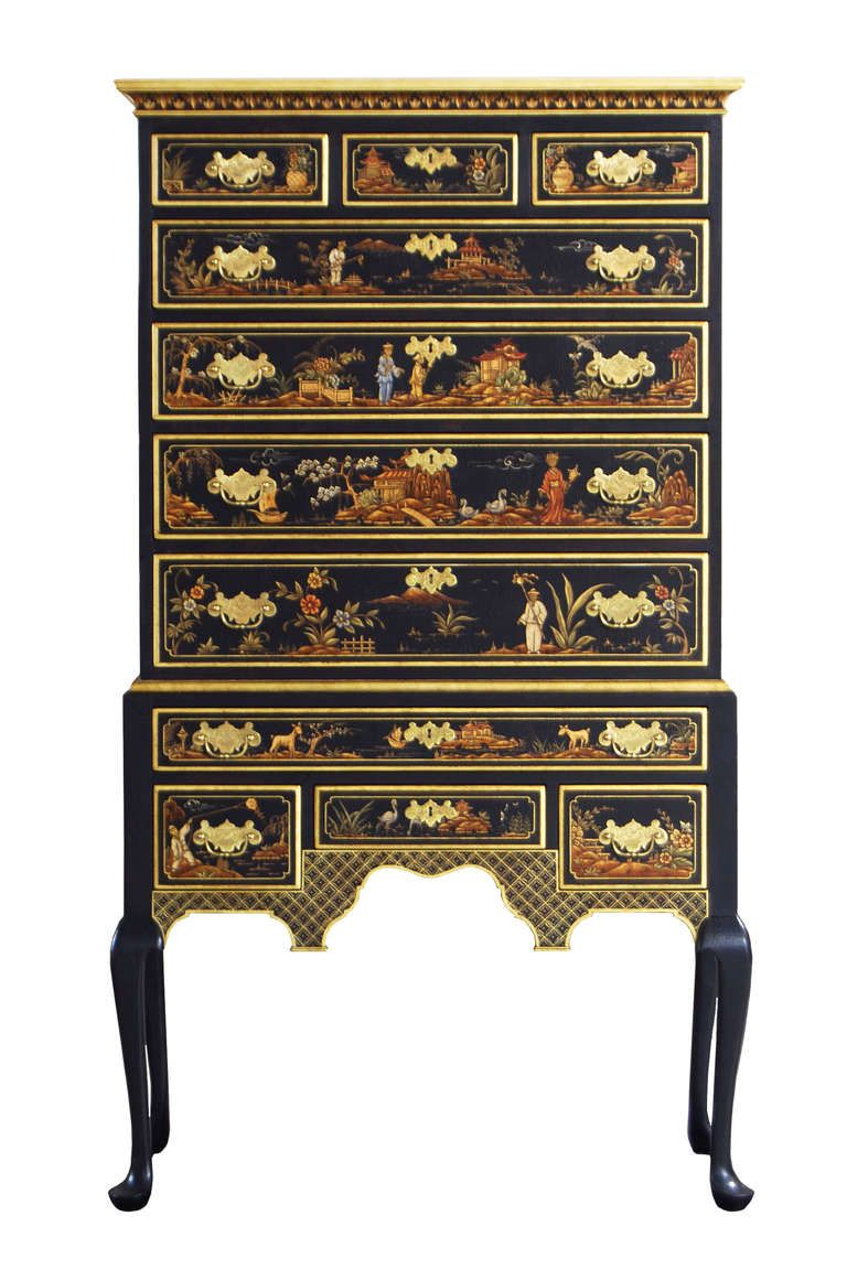 Arte Povera Yahoo Kindel Custom Chinoiserie 18th Century Collection Highboy In 2019