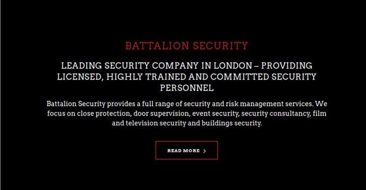 Battalion Security Provides A Full Range Of Security And Risk