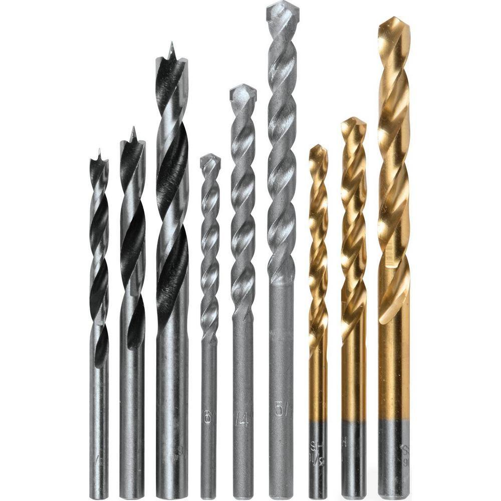 Makita 9 Piece Assorted Drill Bit Set Metal Wood Masonry Straight Shank D 16449 Hammer Drill Bits Wood Drill Bits Makita