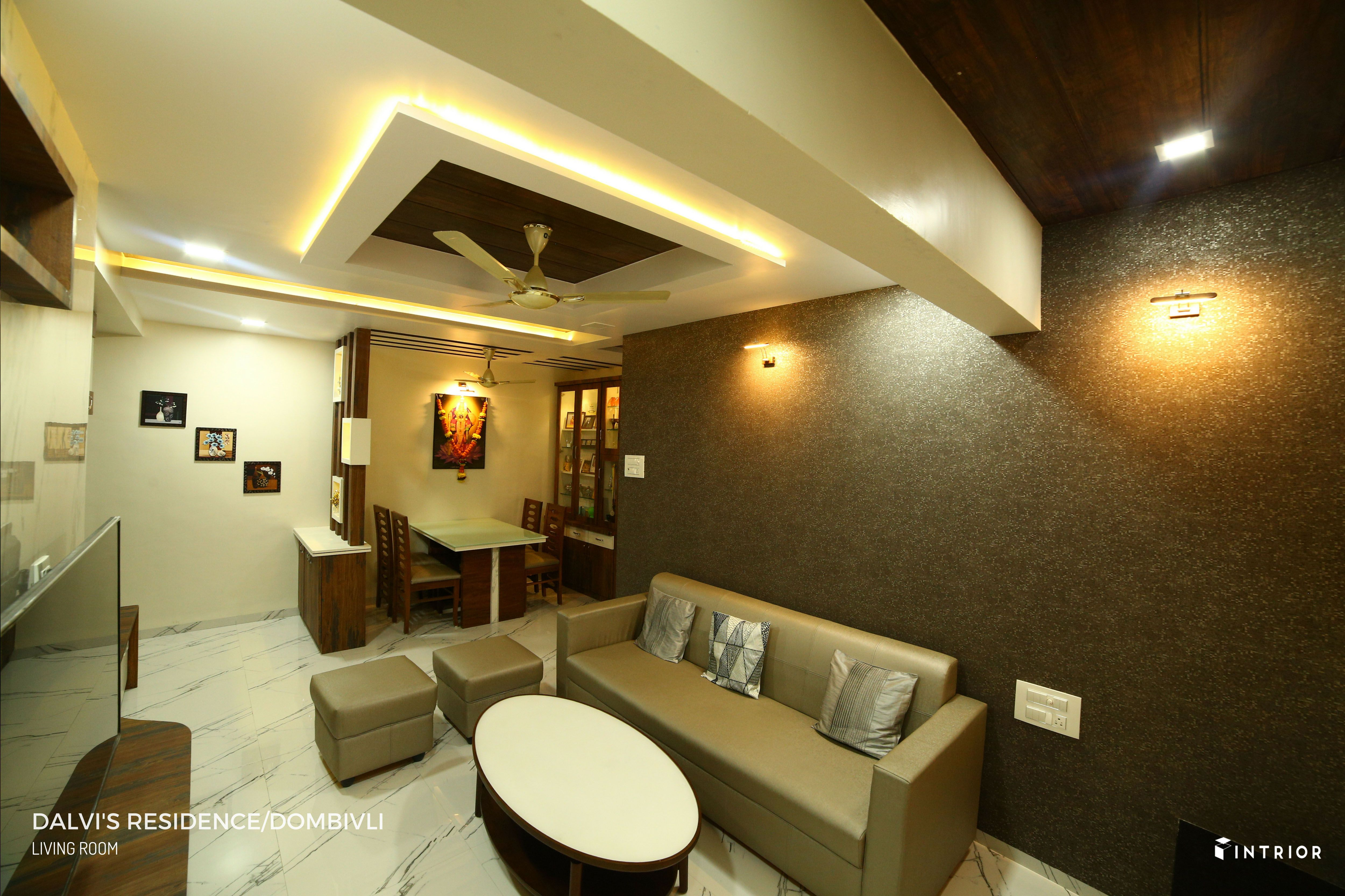 Living Room Dining Area Design At Dombivli Thane