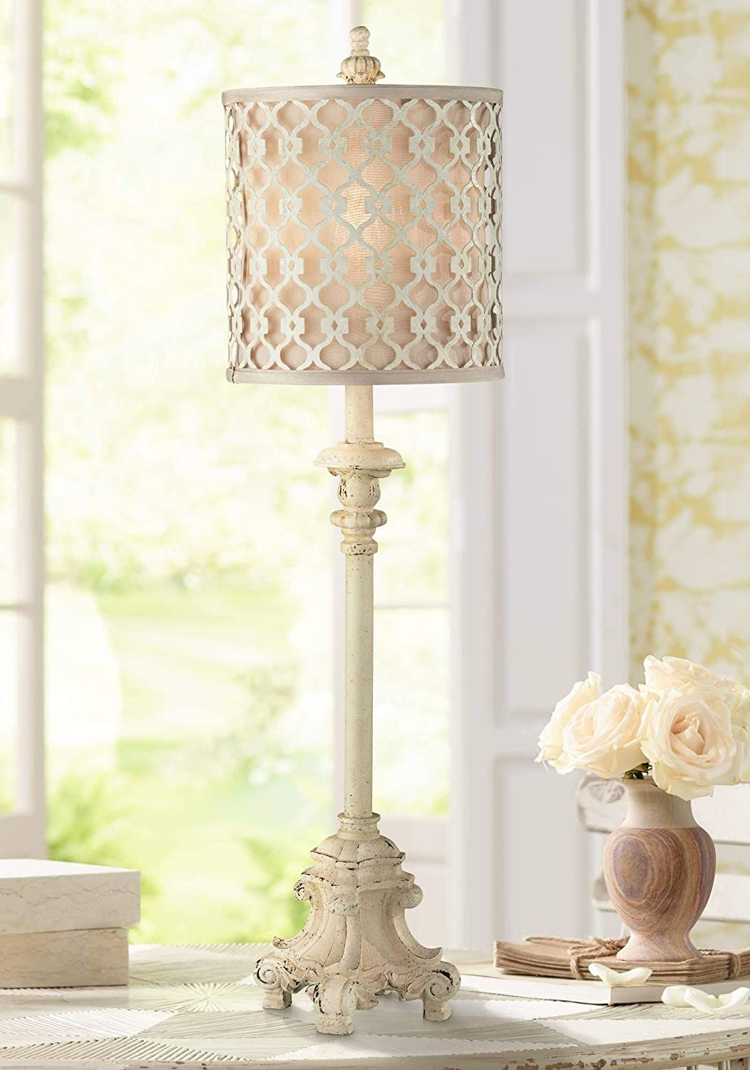 French Country Candlestick In 2021 French Country Candlesticks Vintage Table Lamp Buffet Table Lamps