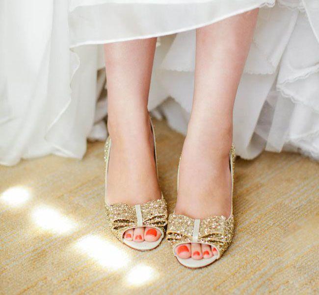 DIY Marvimon Wedding Angela Eugene Sparkly ShoesSparkly
