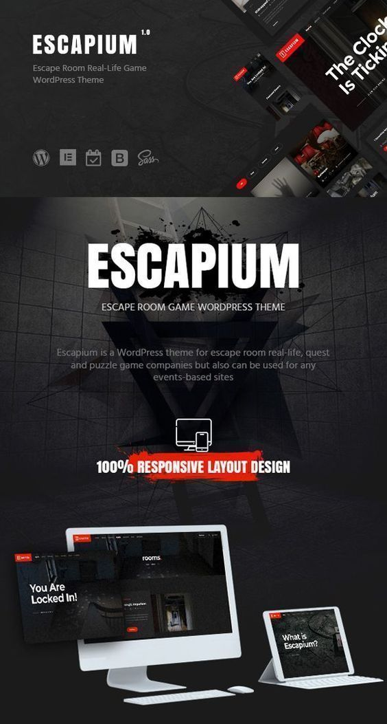Room Design Layout Templates: Escape Room Game WordPress Theme. A Modern And Fully