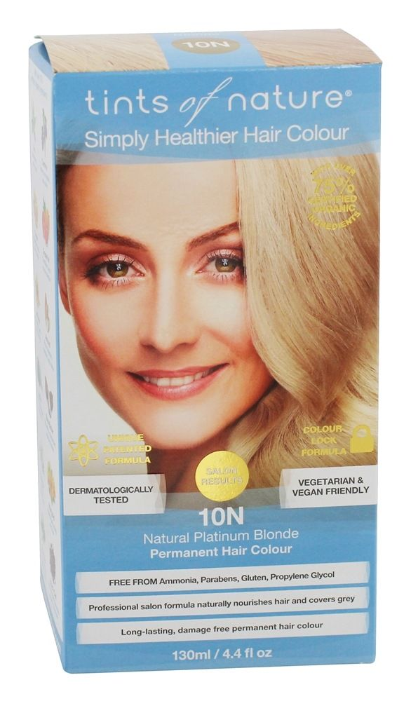 Tints Of Nature - Conditioning Permanent Hair Color 10N Natural Platinum Blonde - 4.4 fl. oz.