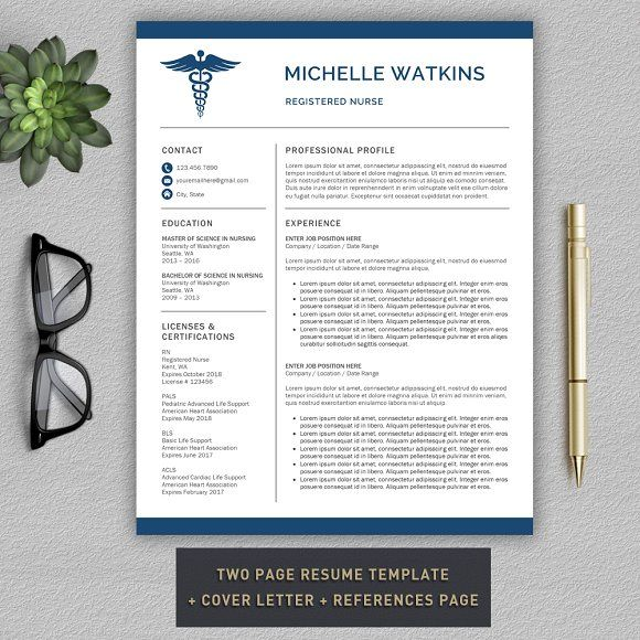 Medical Resume Nurse CV by ProGraphicDesign on @creativemarket - resume of nurse