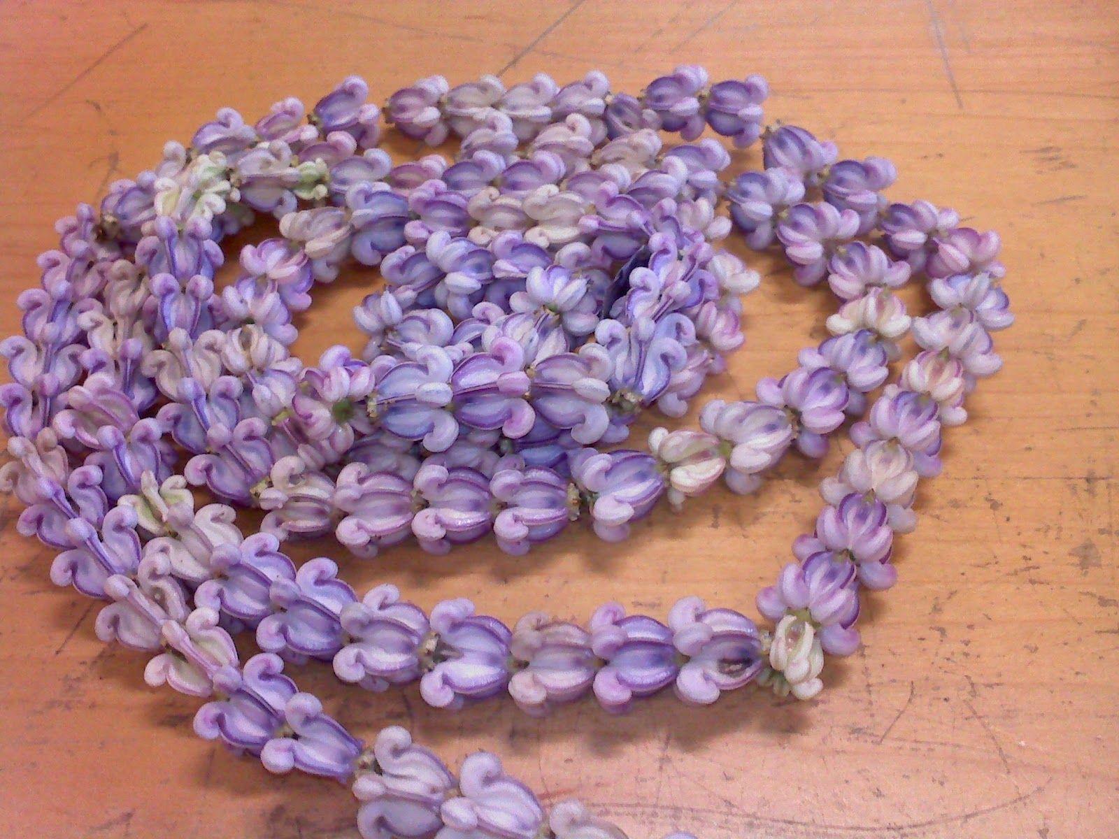 purple crown flower lei hawaiian samoan tongan tahitian leis