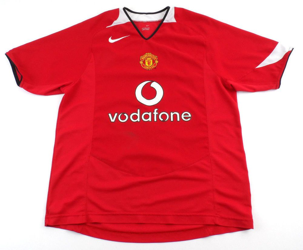Manchester united nike jersey vodafone mens large l red