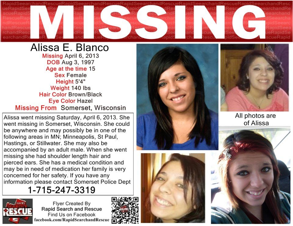 PLEASE REPOST MISSING GIRL POSSIBLY IN DANGER ALISSA E