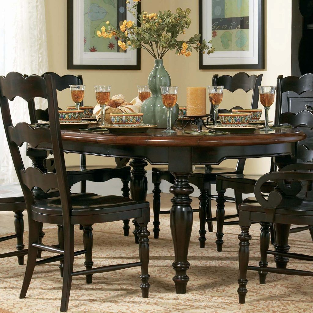 Idk Why I Can T Find A Table Like The One Mom Has But This Was My Idea Either Black Or White Round Kitchen Table Set Round Dining Room Table Round
