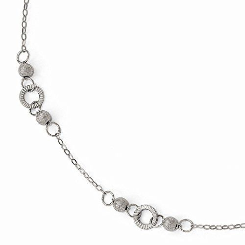 Leslies 14k White Gold Polished and Laser Textured Anklet *** Want additional info? Click on the image.(This is an Amazon affiliate link and I receive a commission for the sales)