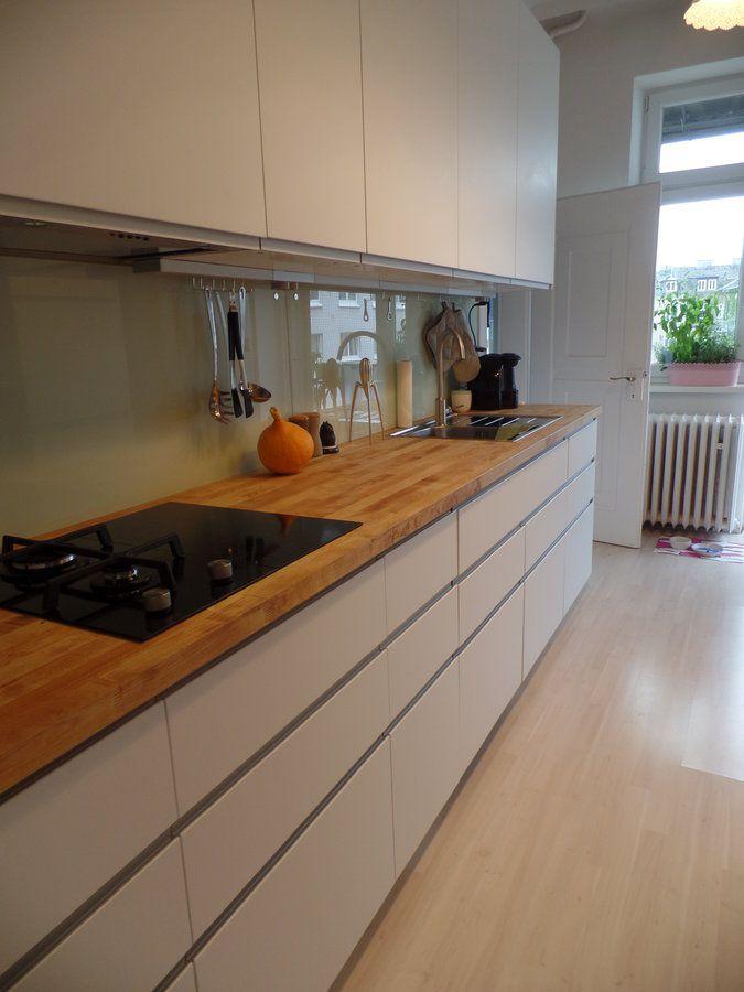 Unsere Ikea Küche mit Nodsta Front | Massivholz arbeitsplatte ...