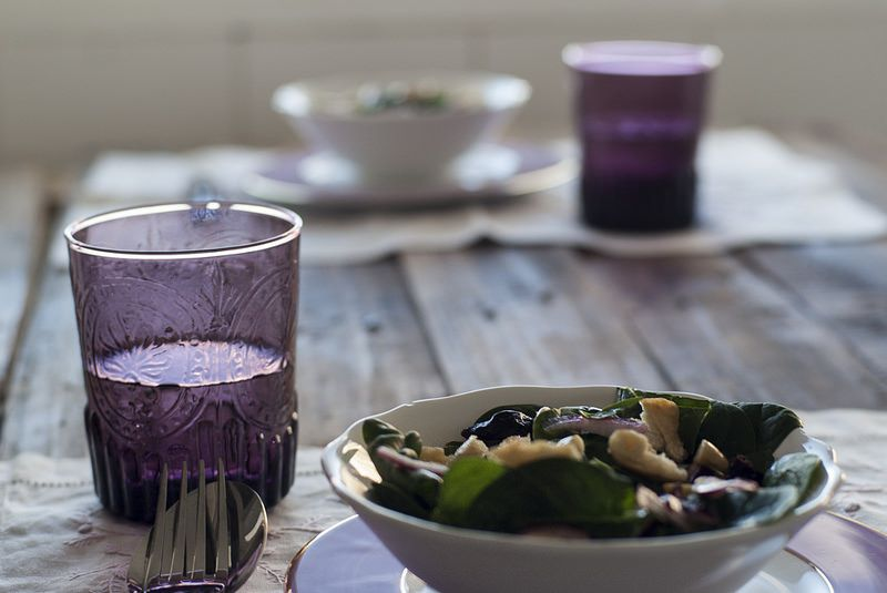 Spinach and nuts salada- ENSALADA de ESPINACAS y FRUTOS SECOS