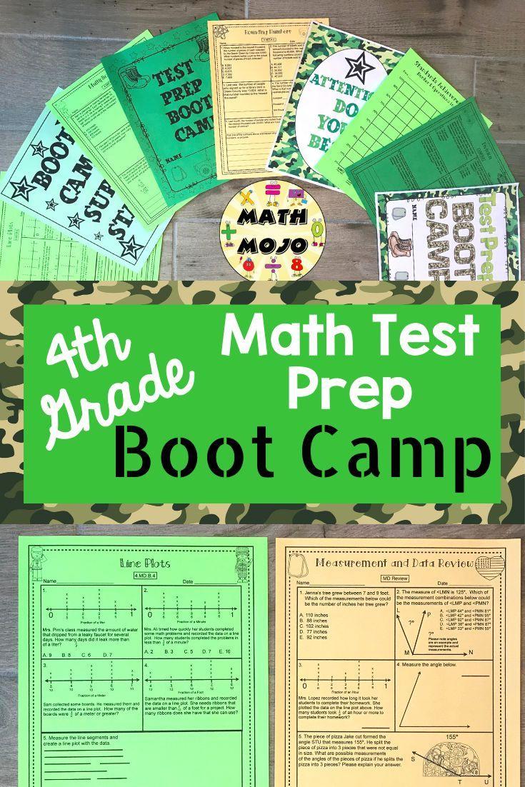 4th Grade Math Test Prep Boot Camp Theme 4th Grade Math Test Prep