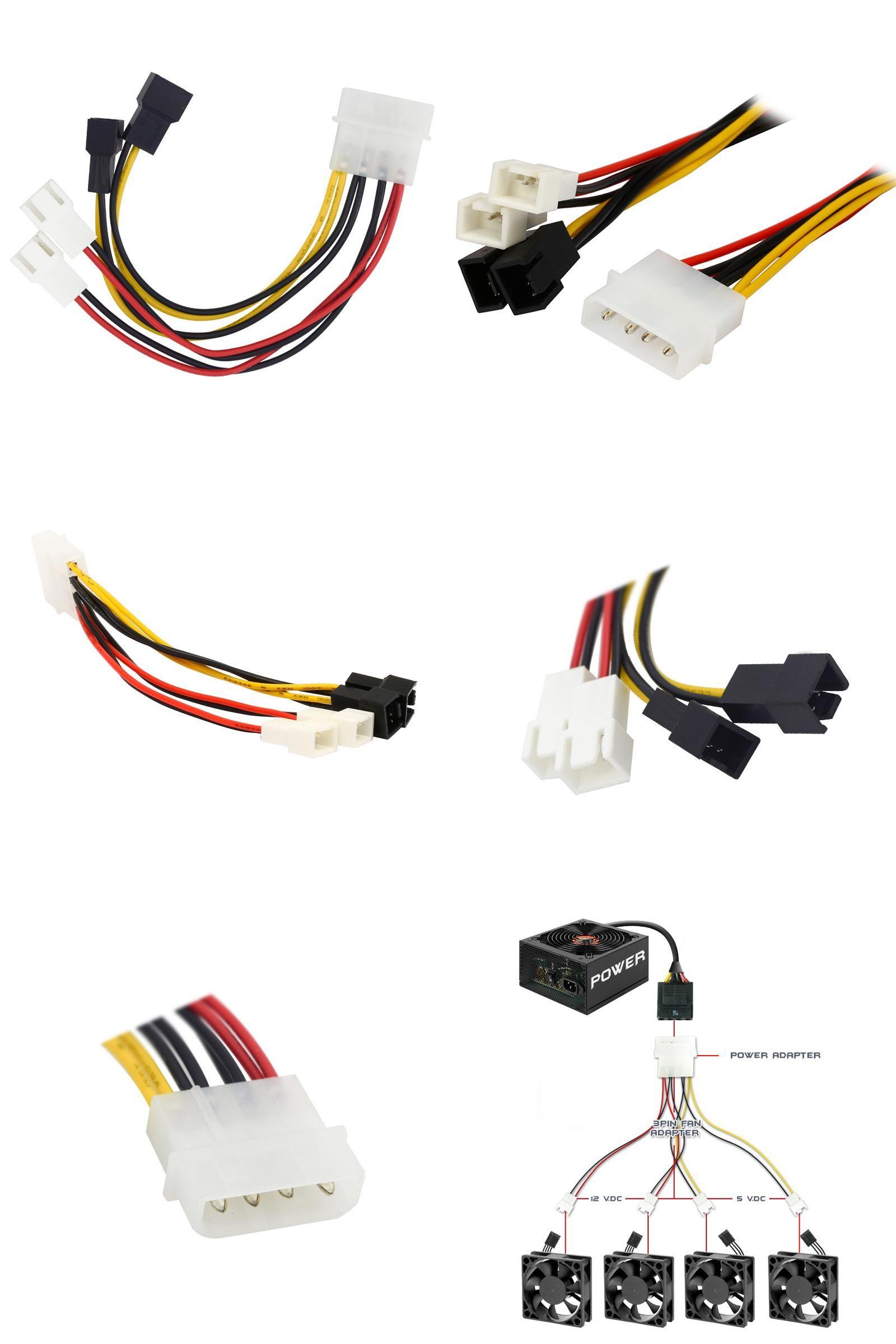 hight resolution of  visit to buy ide molex 4 pin to case cooling fan 3 pin tx3 multi fan out power adapter converter cable w speed reduction 2x5v 2x12v advertisement