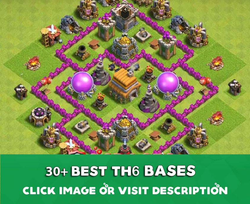Coc Th 6 Base Layout 6