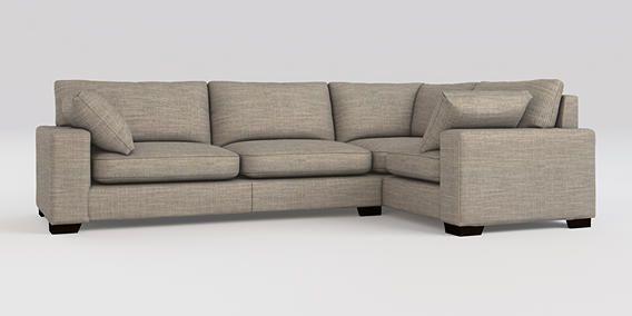 Buy Sonoma Ii Corner Sofa Right Hand 4 Seats Natural Rib Mid French Grey Square Angle Dark From The Next Uk Onlin With Images Corner Sofa Corner Sofa Right Hand Sofa