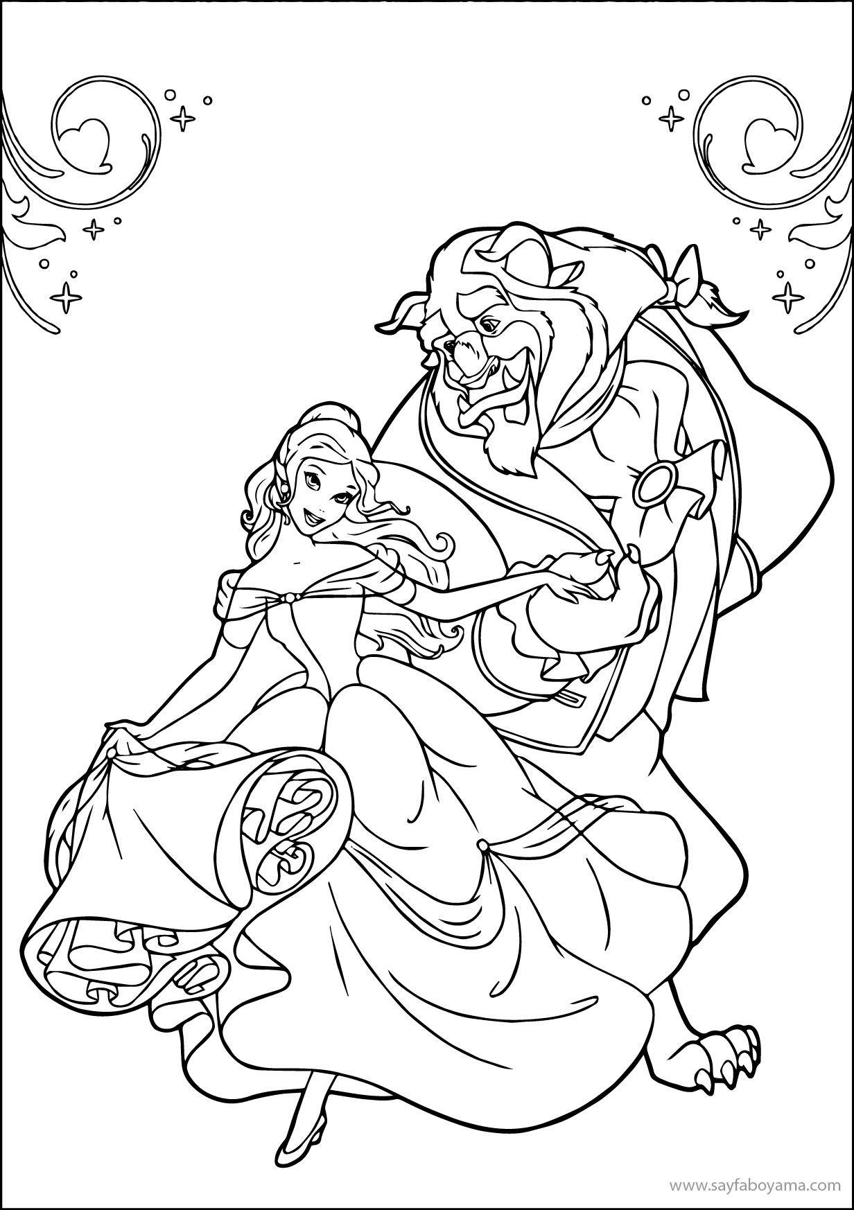 Guzel Ve Cirkin Boyama Sayfalari Disney Coloring Pages Coloring
