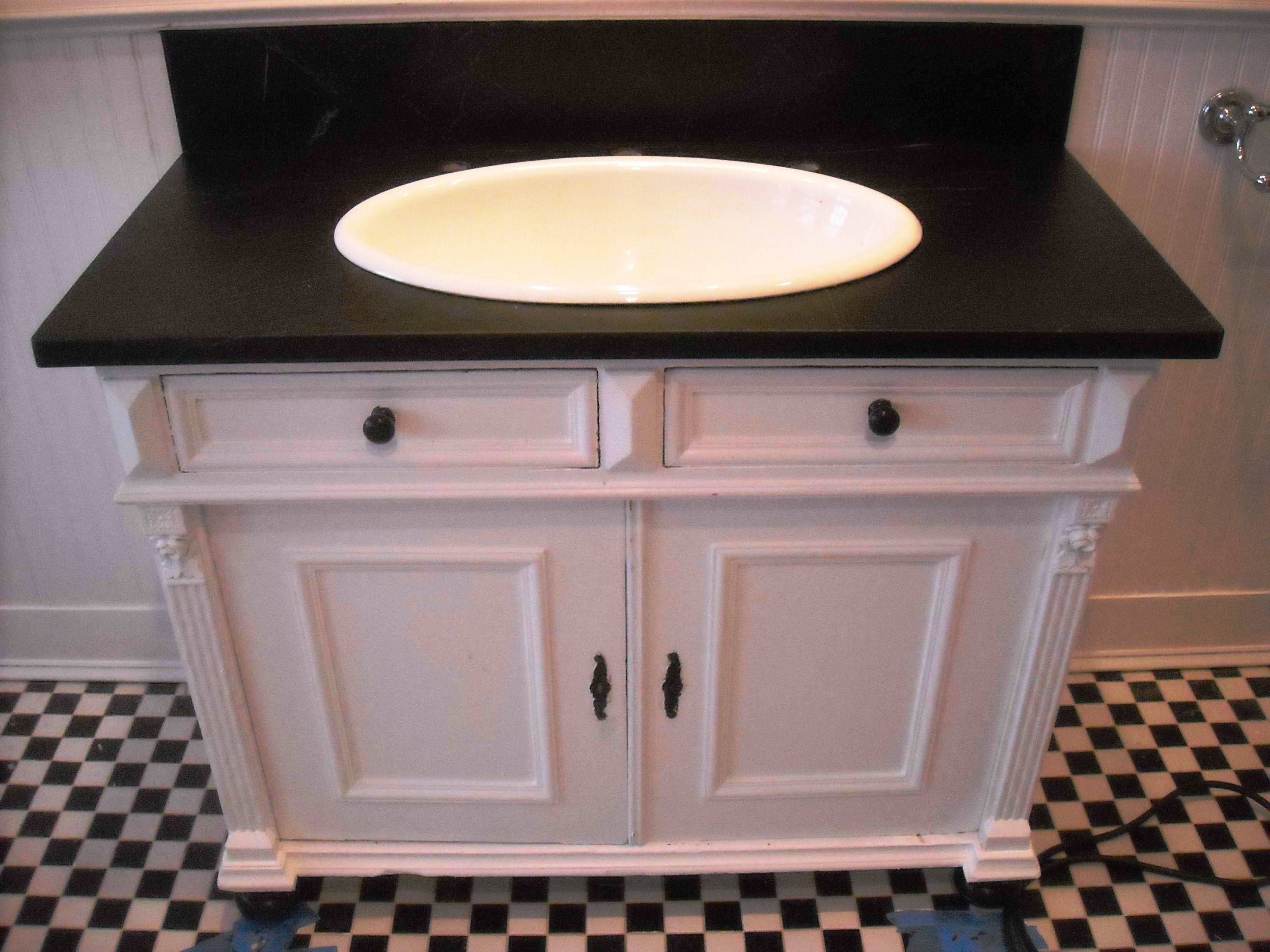 soapstone vanity and backspash with white sink bowl in on replacement countertops for bathroom vanity id=83125