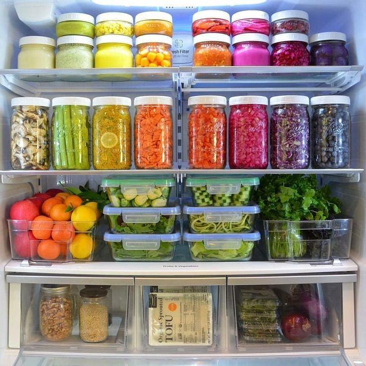organized fridge goals zero waste groceries in 2019 fridge organization refrigerator on kitchen organization zero waste id=21658
