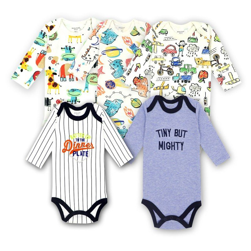 d1951fe4f68c 3 Pieces lot Cotton Baby Suit Rompers Newborn Cotton Body Baby Long ...
