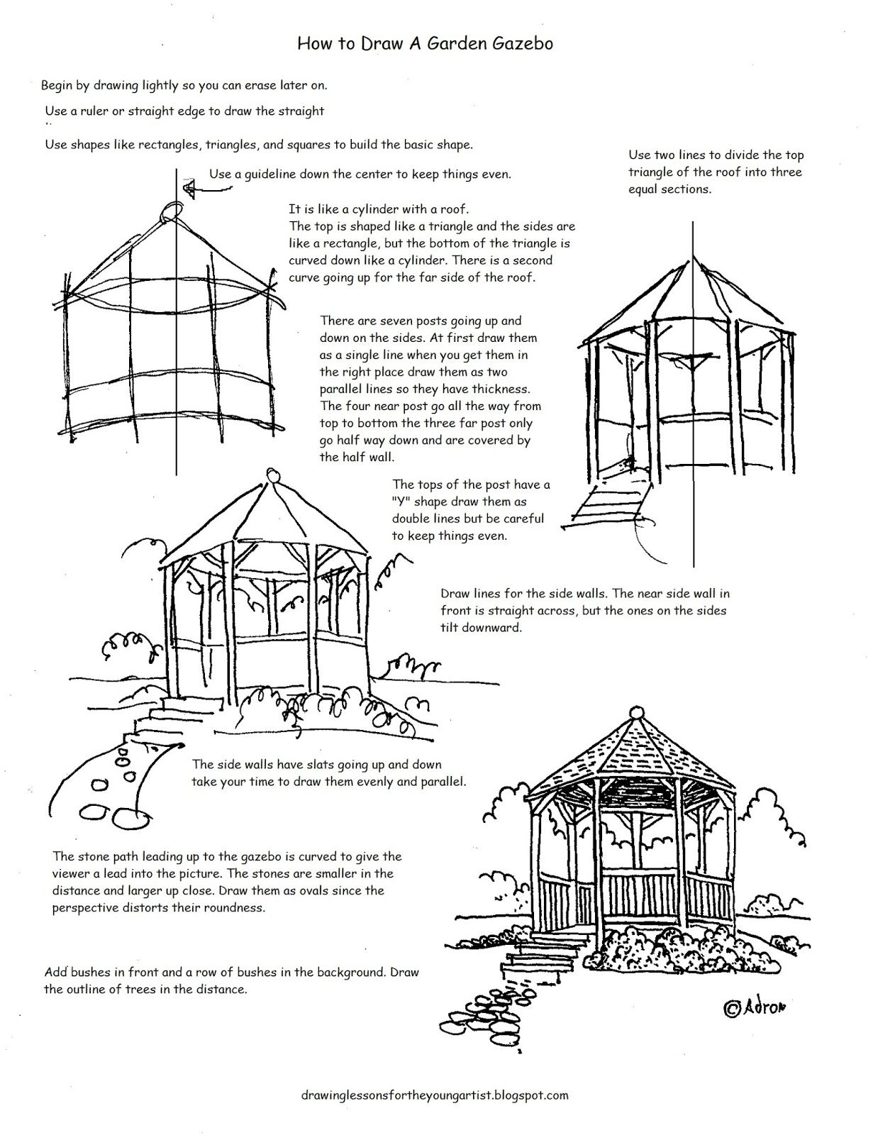 How to Draw Worksheets for The Young Artist How to Draw a Garden – Curve Sketching Worksheet
