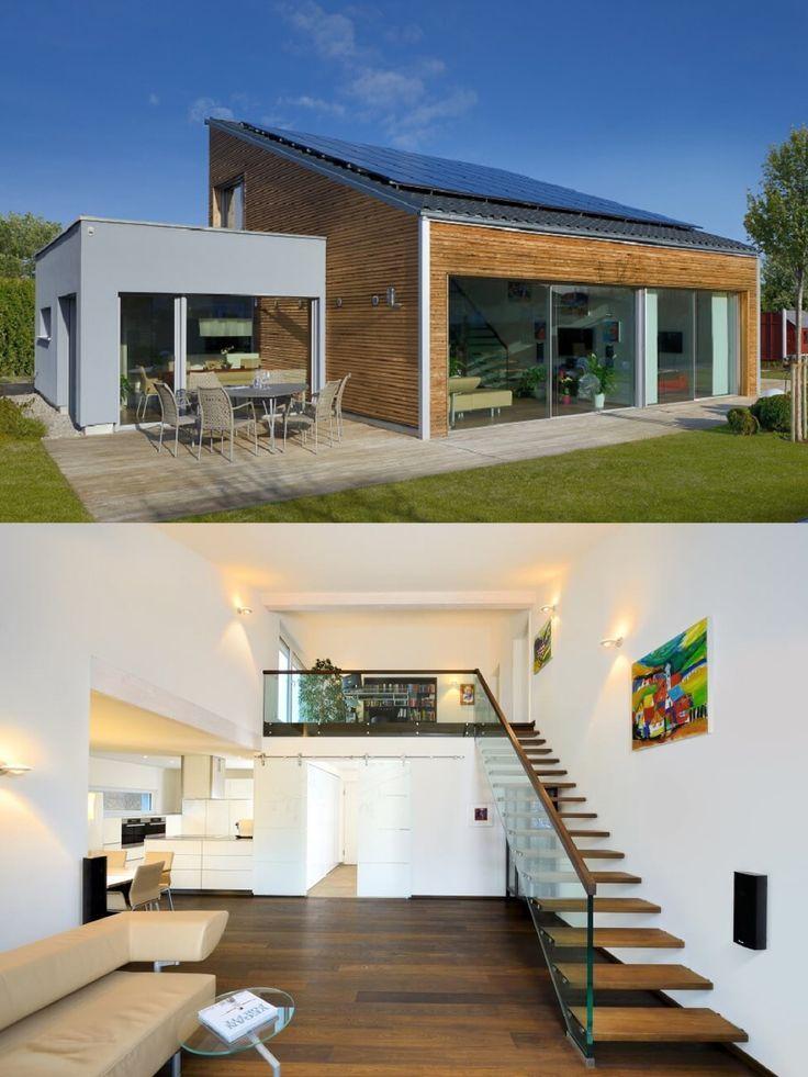 Stadtvilla modern mit Zeltdach und CarportAnbau Villa