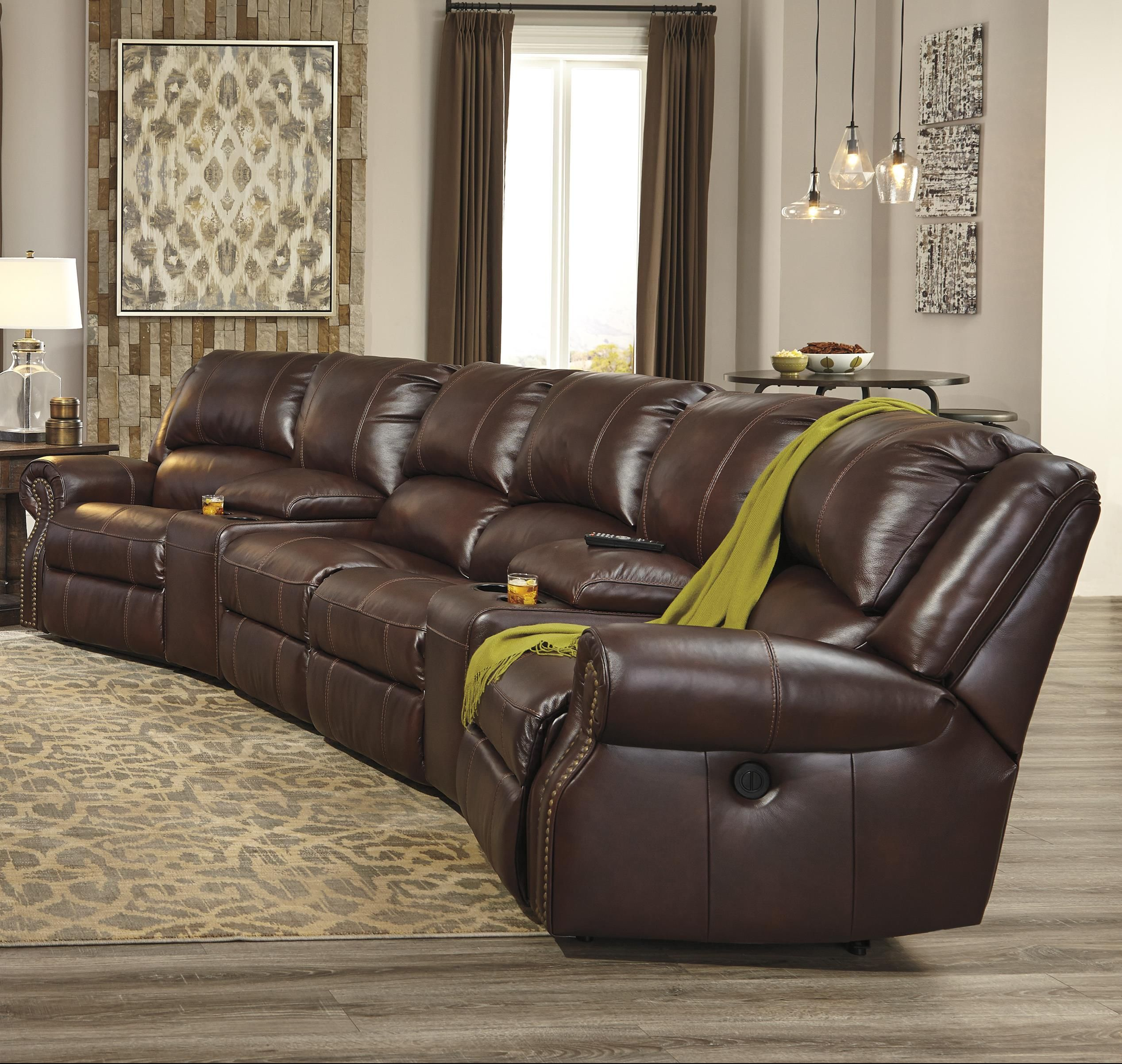 Collinsville 6 Piece Power Recline Theater Seating Group by
