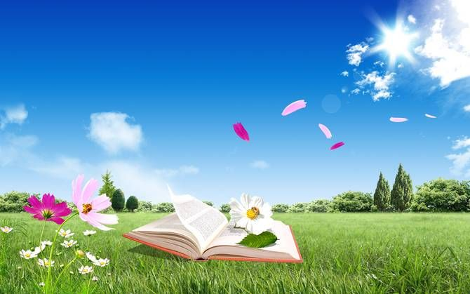 Image result for Spring and books
