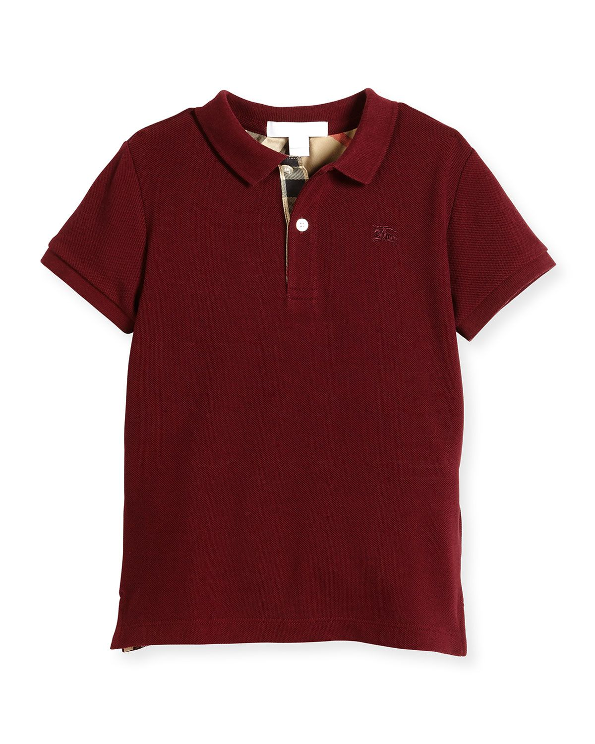 Mini Ppm Jersey Polo Shirt Burgundy Red Size 4 14 Boys Size 8