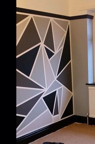 10 awesome accent wall ideas can you try at home d co for Deco chambre geometrique