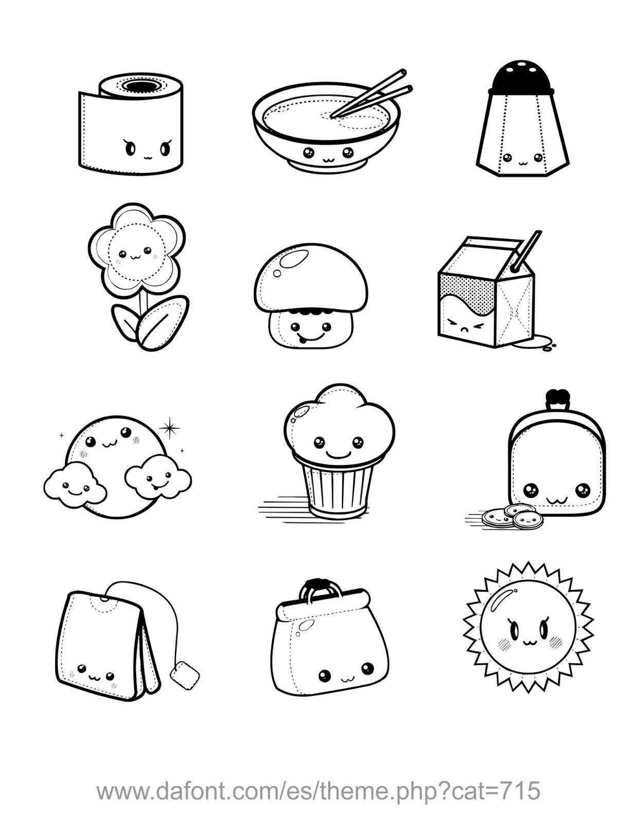 Dibujos Para Colorear Kawaii Food