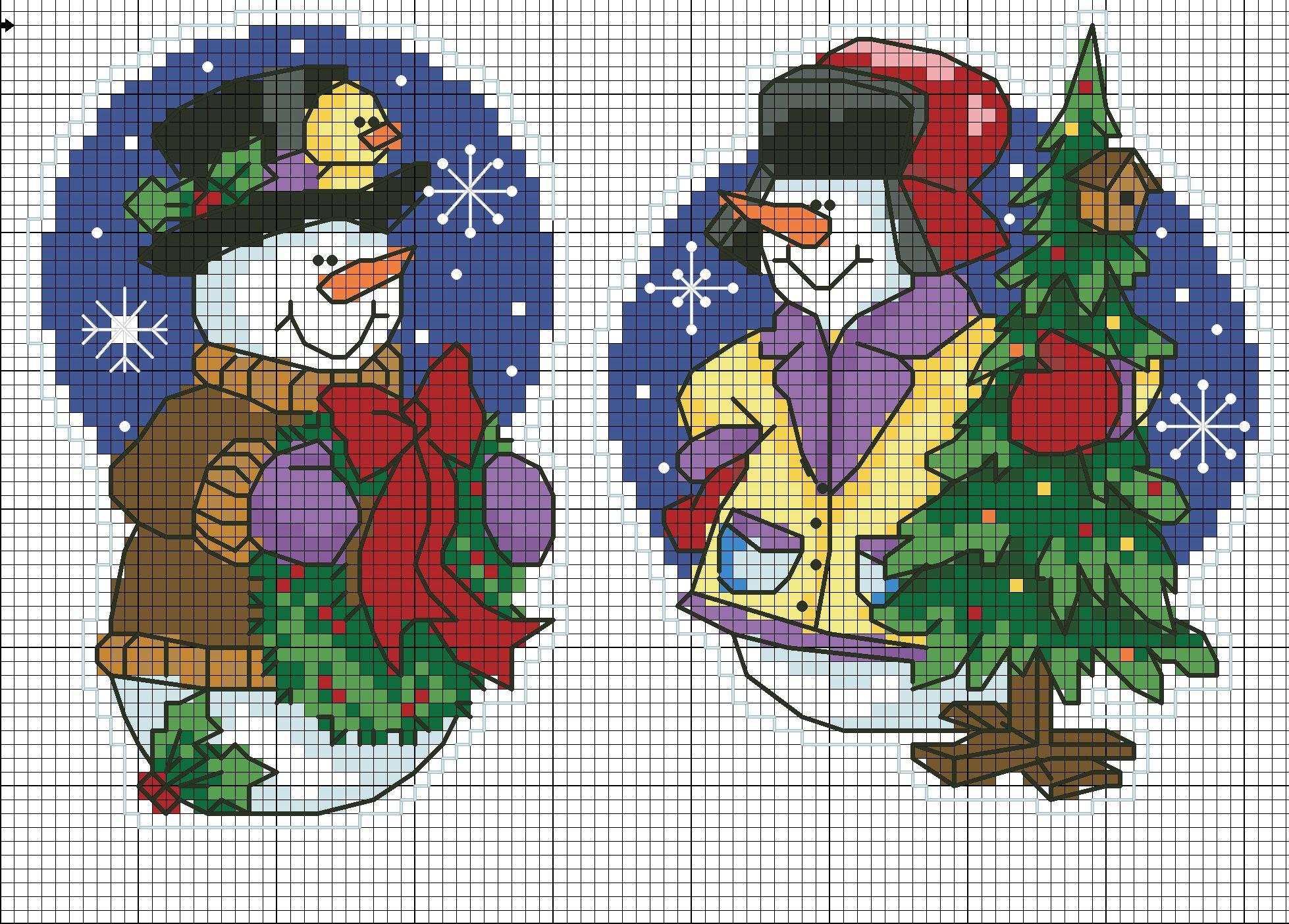 Новогодние картинки крестиком, открытку праги