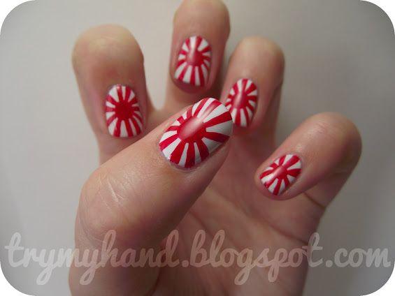 Anese Rising Sun Flag Nail Nails Nailart