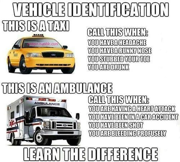 EMS Meme, Ambulance vs Taxi | Stuff I like | Pinterest ...
