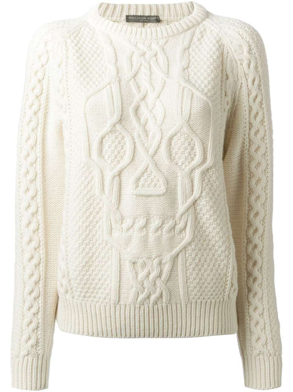 Aran Skull Knit Jumper by Alexander McQueen | knit | Pinterest ...