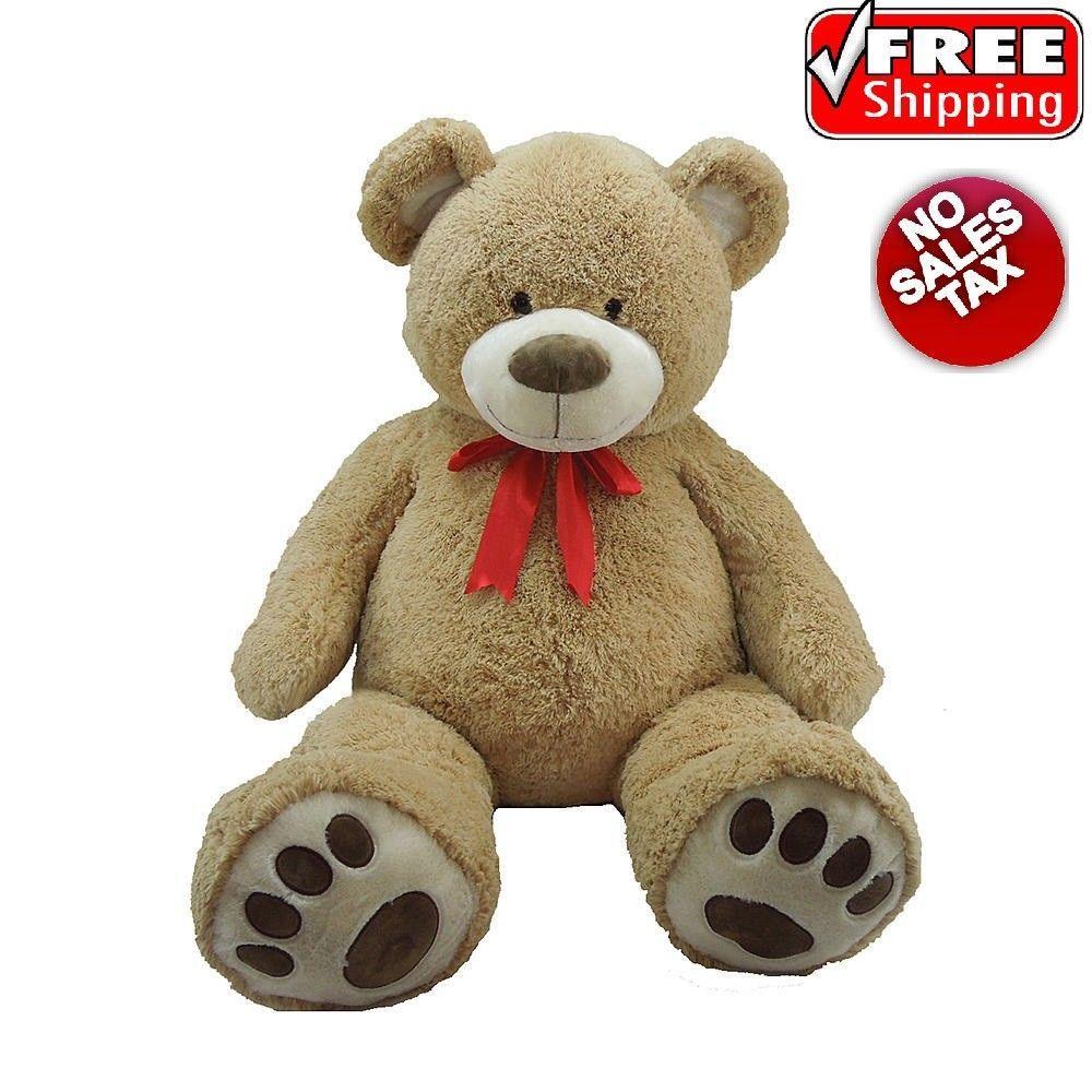 Big Teddy Bear With Ribbon 59 Giant Plush Huge Stuffed For