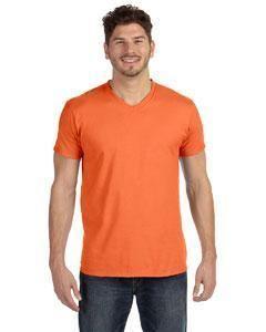 18697381 Hanes Men's 4.5 oz., 100% Ringspun Cotton nano-T® V-Neck T-Shirt 498V  VINTAGE ORANGE